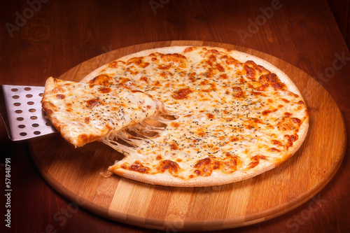 Fotobehang Restaurant Hot Pizza