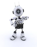 Robot with clapper board