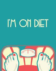 Diet concept poster