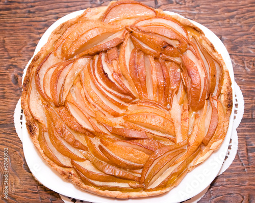 Homemade pear pie