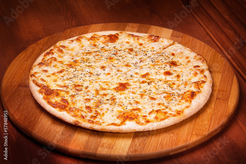 Deurstickers Klaar gerecht Hot Pizza