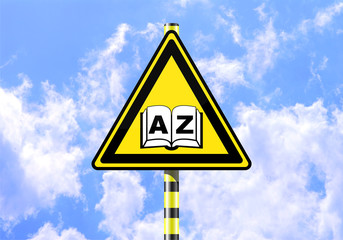BOOK A-Z ROAD SIGN