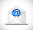 laptop and email illustration design