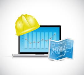 construction business illustration design