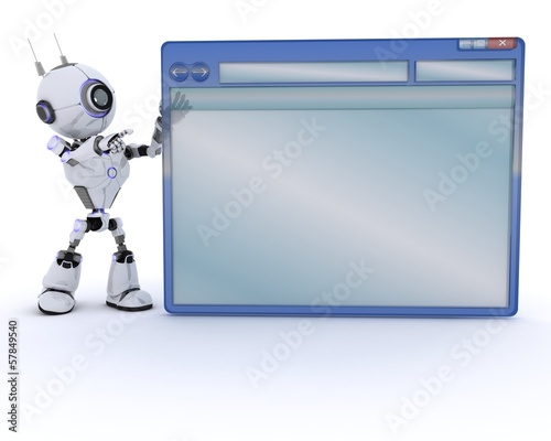 Robot with computer window