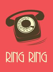 retro telephone poster