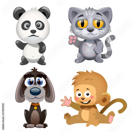 four cute animals