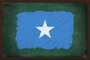 Somalia flag painted with chalk on blackboard