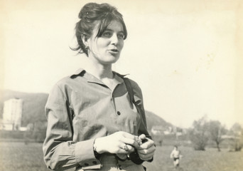 Young woman in shirt - circa 1965