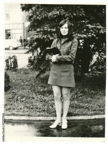 Young woman in the park - circa 1965