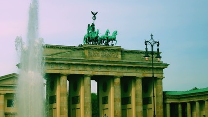 The Brandenburg Gate ( Brandenburger Tor), attraction in Berlin