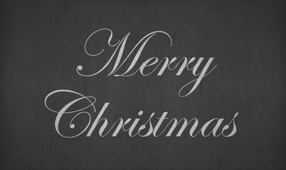 merry christmas on blackboard