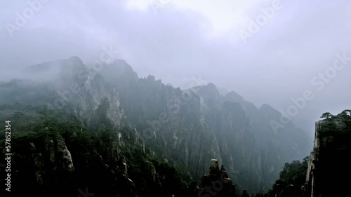 Breathtaking view of Yellow Mountain,Anhui,China