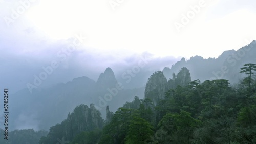 Floating cloud in Yellow Mountain,Anhui,China