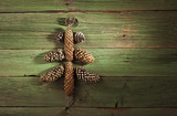 Christmas tree made from fir cones