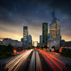 Paris LaDefense at sunset - La Defense