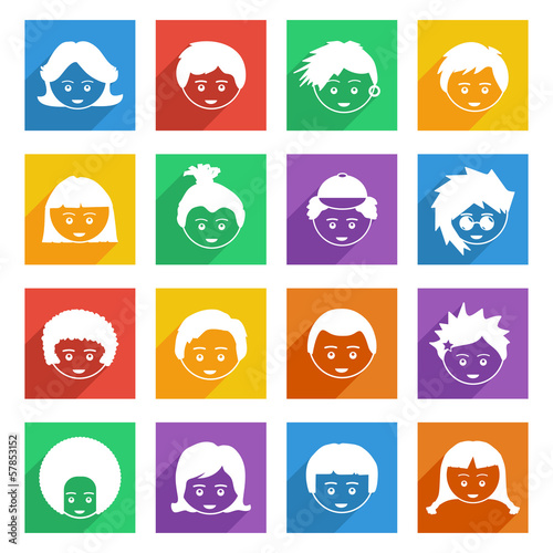 bright kids icons