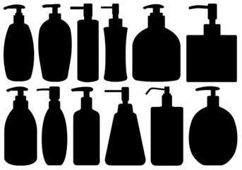 Set of different liquid soaps