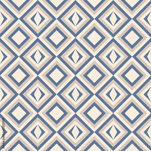 Papiers peints ZigZag Fashion pattern with squares and stars