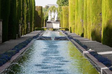 Gardens in the Alcazar of Christian Monarchs in Cordoba (Spain)