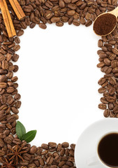 coffee concept on white