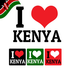I love Kenya sign and labels