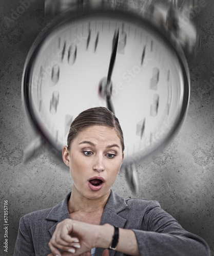 Businesswoman realising she is running out of time