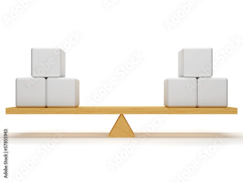 Balance between cubes