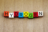 Hydrogen - sign series for science, chemistry, gas and education poster