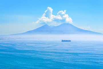 Nice view of the volcano Mount Vesuvius