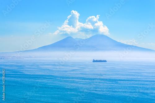 Fotobehang Vulkaan Nice view of the volcano Mount Vesuvius