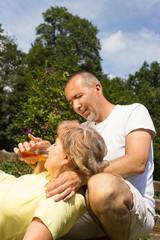 Erste Hilfe bei Seniorin