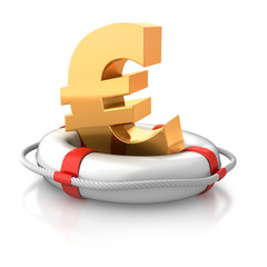 Euro im Rettungsring