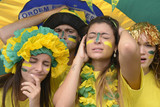 Group of brazilian soccer fans disappointed