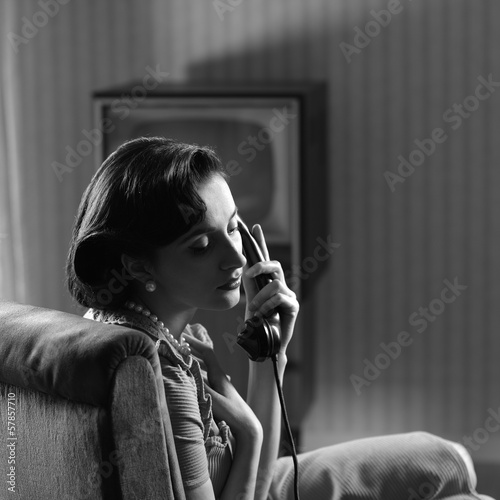 Woman at phone - 57857710