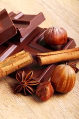 Cioccolato ,cannella e nocciole