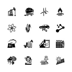 alternative energy  vector icon set