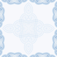 Patterned floor tile in oriental style.
