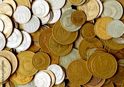 Soviet coins.