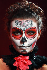 halloween make up sugar skull