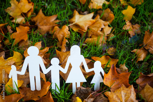 paper family autumn