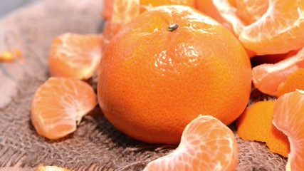 Tangerines (Rotating Loopable HD Video)
