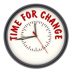 Time for change. Часы с надписью