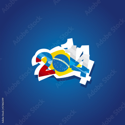 Russia in Brazil 2014 vector