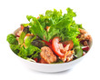 fresh salad with grilled salmon fillet