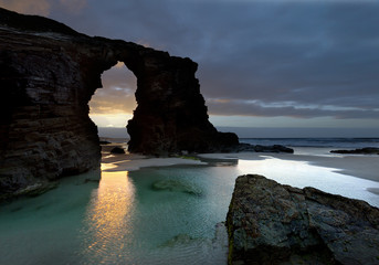 """Beach """" The Cathedrals"""" in Galicia,Spain."""