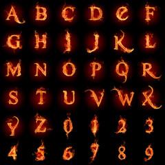 Fiery font.