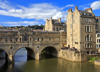 Historic Pulteney Bridge, Bath, England, United Kingdom