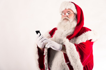 Babbo Natale con smartphone