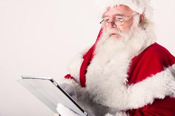 Babbo Natale con tablet